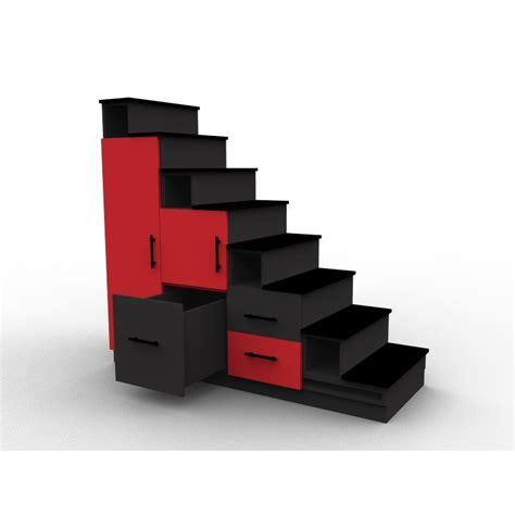 bureaux d angle meuble escalier et noir avec portes et tiroirs