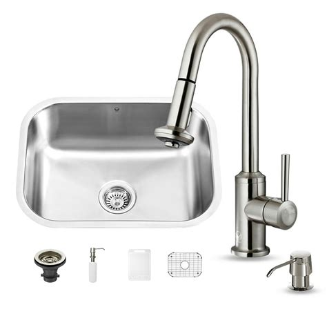 all in one sink vigo all in one undermount stainless steel 23 in single