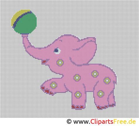 kreuzstichvorlage kleiner elefant vorlagen zum sticken