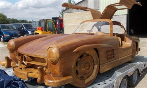 furniture clinic revamps wooden mercedes benz sl gullwing