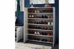 Meuble D Entrée : meubles pour hall d 39 entr e blanc brillant ~ Teatrodelosmanantiales.com Idées de Décoration