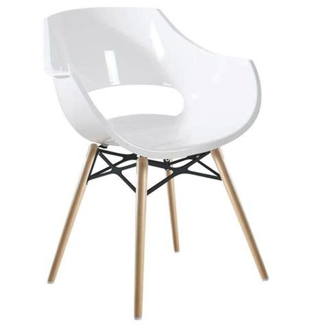 chaise blanche pied en bois chaise blanche opal wox pieds bois naturel achat vente