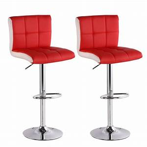 Tabouret De Bar Soldes : lot de 2 tabourets de bar magic rouge chaise tabouret ~ Dailycaller-alerts.com Idées de Décoration
