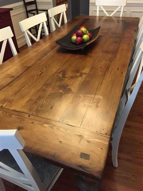 how to design kitchen reclaimed wood dining table with a 2 quot thick plank top 4372