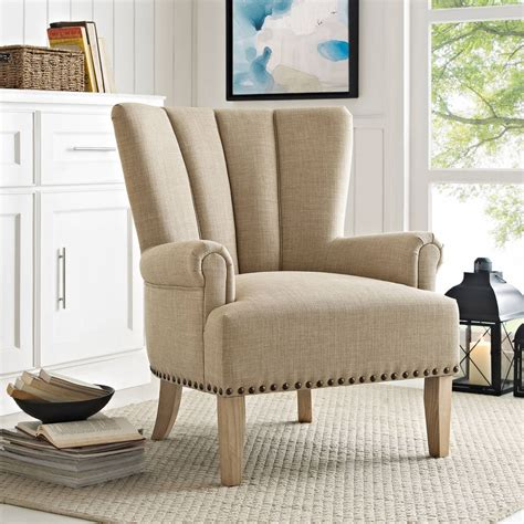 Upholstered Accent Chair Roll Arms Rest Seat Living Room