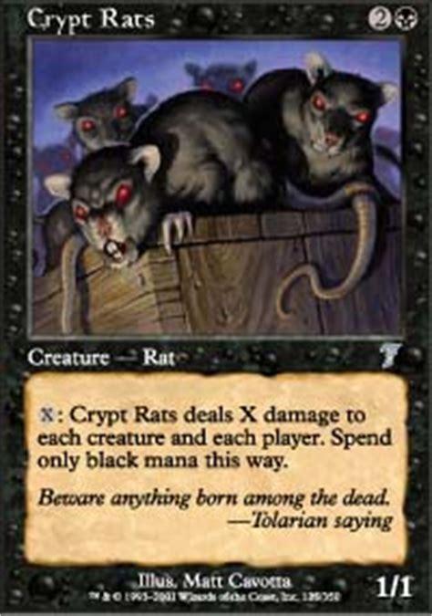 rat deck mtg tcgplayer crypt rats magic 7th edition