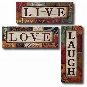 second life marketplace wall art metal live love laugh With live love laugh wall art
