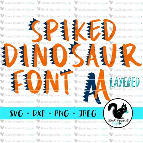 Easy to resize, change colors and customize however you'd like. Dinosaur Letter Font Spiked Dino SVG Letters Layered ...