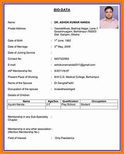 how to make biodata letters free sample letters With how to make biodata for job