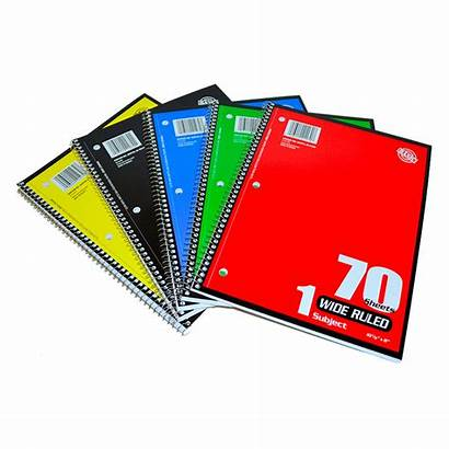 Spiral Wide Ruled Notebooks Notebook Inc Pg