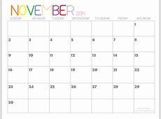 7 Best Images of November 2014 Calendar With Holidays
