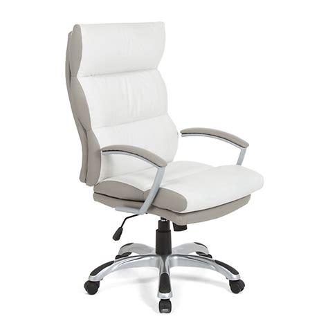 fauteuil de bureau à roulettes en polyuréthane blanc et