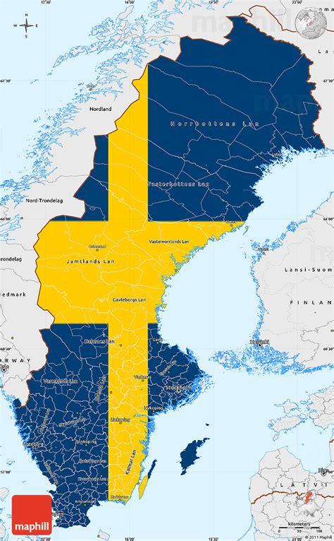 flag simple map  sweden single color  borders