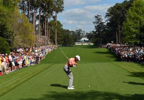April 9: Tiger Woods split the fairway with his tee shot ...