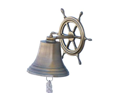 Buy Antique Brass Hanging Ship Wheel Bell 8 Inch. Laundry Room Flooring. Sunsetter Screen Room. Laundry Room Wall Cabinets. How To Build A Soundproof Room. Front Door Decorative Hardware. New Home Decor. Small Home Decor. Decorative Vinyl Floor Tiles