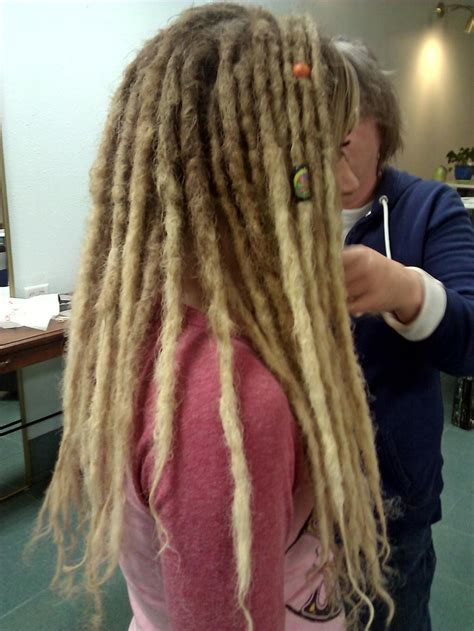 dreads long blonde dreads  super thick  curly hair