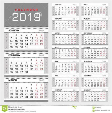 wall quarterly calendar week numbers week start monday