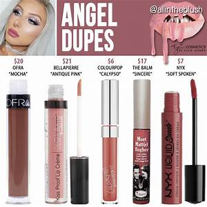 Kylie Cosmetics Angel Lipstick Dupes Holiday Collection