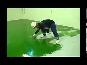 Peinture Sol Epoxy : entreprise r sine epoxy et peinture epoxy youtube ~ Edinachiropracticcenter.com Idées de Décoration