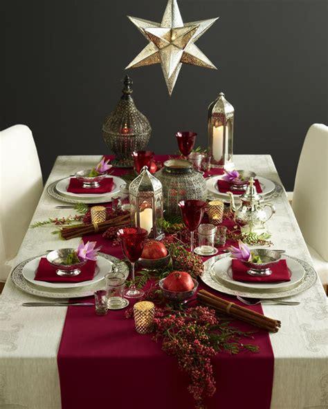 ideas  decorate  christmas dinner table eat food