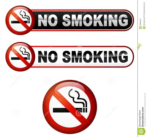 No Smoking Symbol With Cigarette In Red Circle Cartoon ...