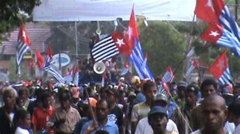 bendera papua merdeka berkibar  kjri melbourne