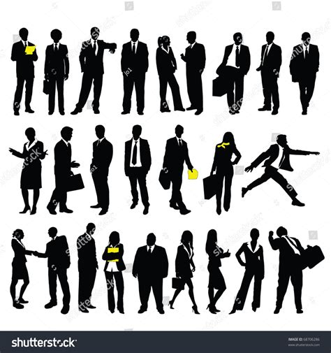twentyfive high quality vector silhouette business stock