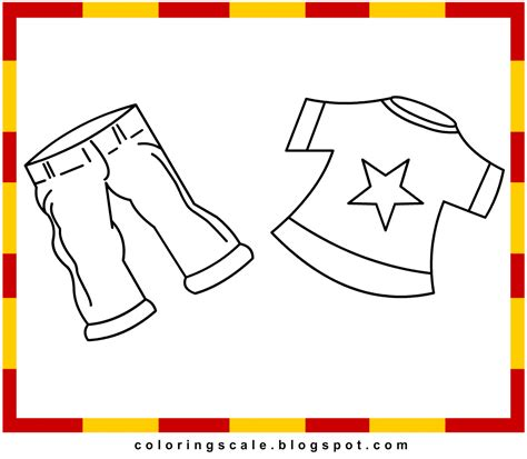 coloring pages printable  kids clothes coloring pages