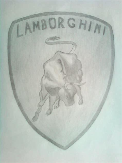 lamborghini symbol drawing lamborghini logo by eni6matic on deviantart