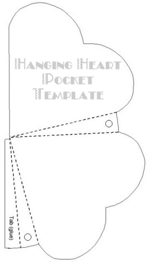 printable pocket card template hanging pocket great link to templates for all