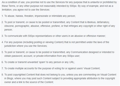 sample terms  conditions template termsfeed