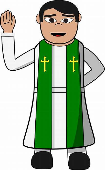 Pastor Clipart Priest Catholic Pendeta Dan Pastors