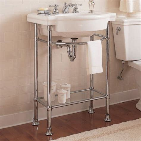 pedestal sink with metal legs pin by amy suardi frugal mama on bathrooms pinterest