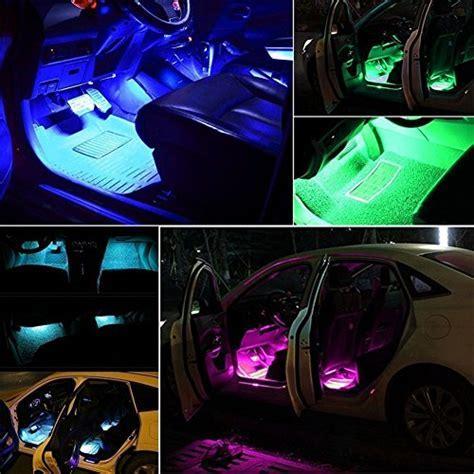 Minger Car LED Strip Light,4pcs DC 12V Multi color Car