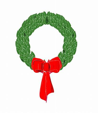 Wreath Cartoon Christmas Clip Clipart Powerpoint