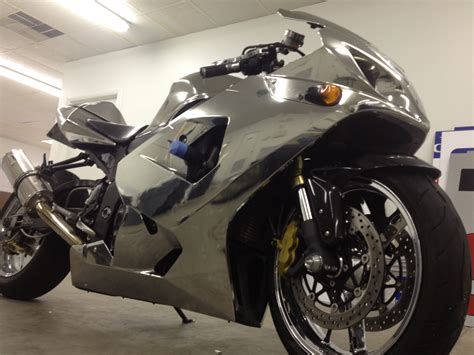 chrome vinyl wrap  street bike rad pinterest