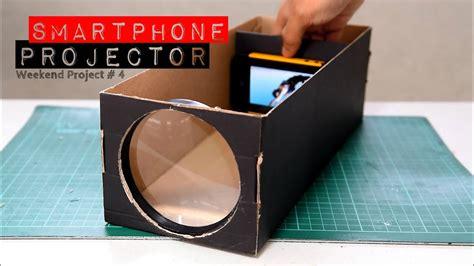 build  smartphone projector   shoebox youtube