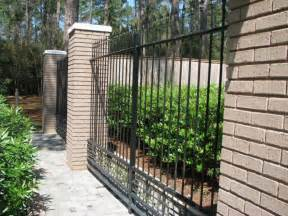 Brick Iron Fence Design Quote The Dramatic Fence Designs For Your Front Yard
