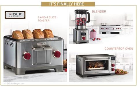Wolf Countertop Appliances  Wolf Blenders  Wolf Toasters