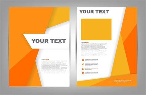 Orange Brochure Cover Vector Free Download Free Vector In
