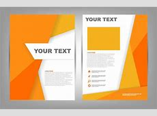 Brochure cover page design free vector download 7,529