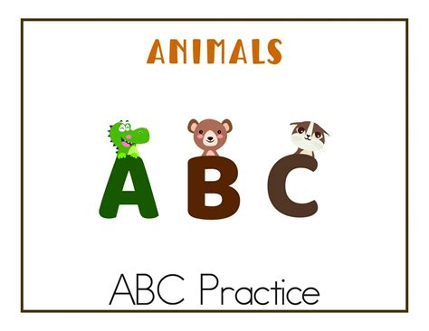 abc worksheets  printables    images