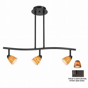 Cal lighting serpentine light standard dark bronze glass pendant linear track