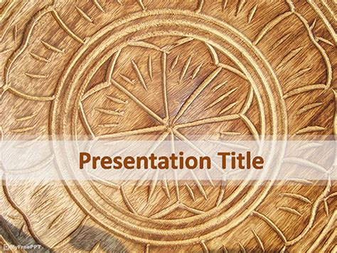 wooden carving powerpoint template