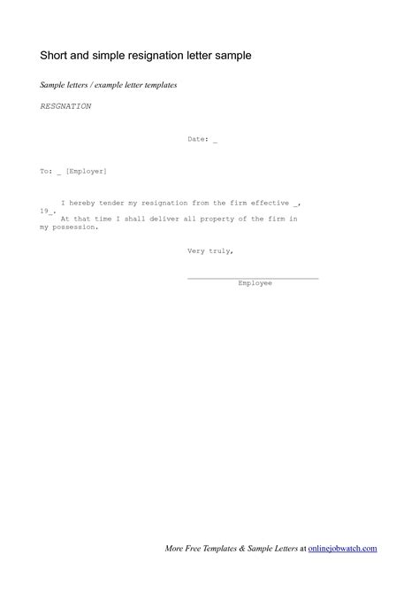 letter  resignation samples template widescreenwriting