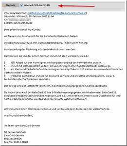 Rechnung Bahncard : virus warnung e mail mit buchung der bahncard mimikama ~ Themetempest.com Abrechnung