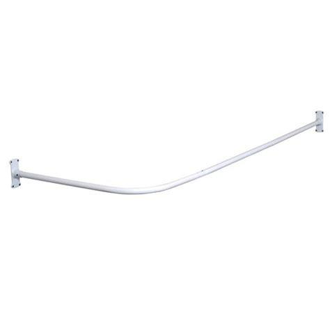 L Shaped Drapery Rod - zenith l shaped rod white