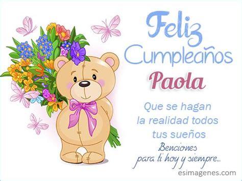 Resultado de imagen para Tarjeta cumpleaños Paola Andrea