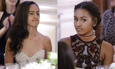 Malia And Sasha Obama Attend First State Dinner