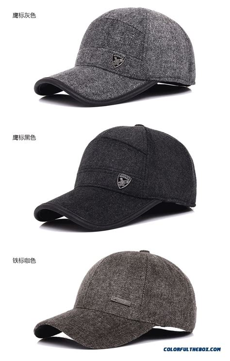 cheap mens outdoor sports caps thick cashmere baseball